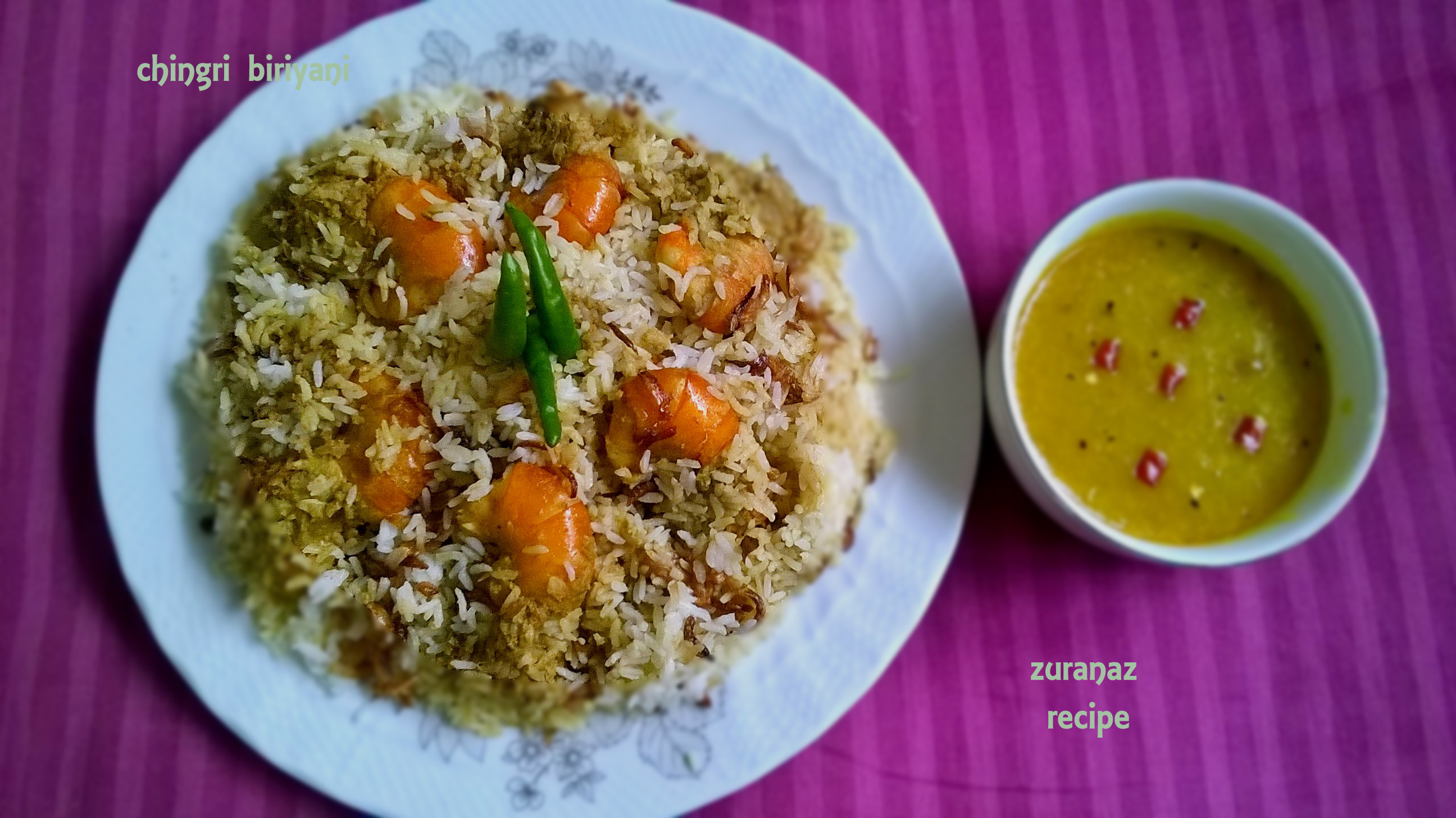 Prawn Biriyani  || chingri macher biriyani