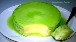 Green Caramel Custard/Green Pudding