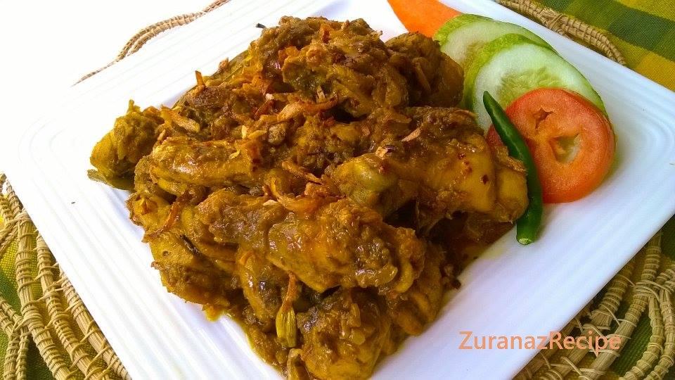 Jhal Chicken Vuna