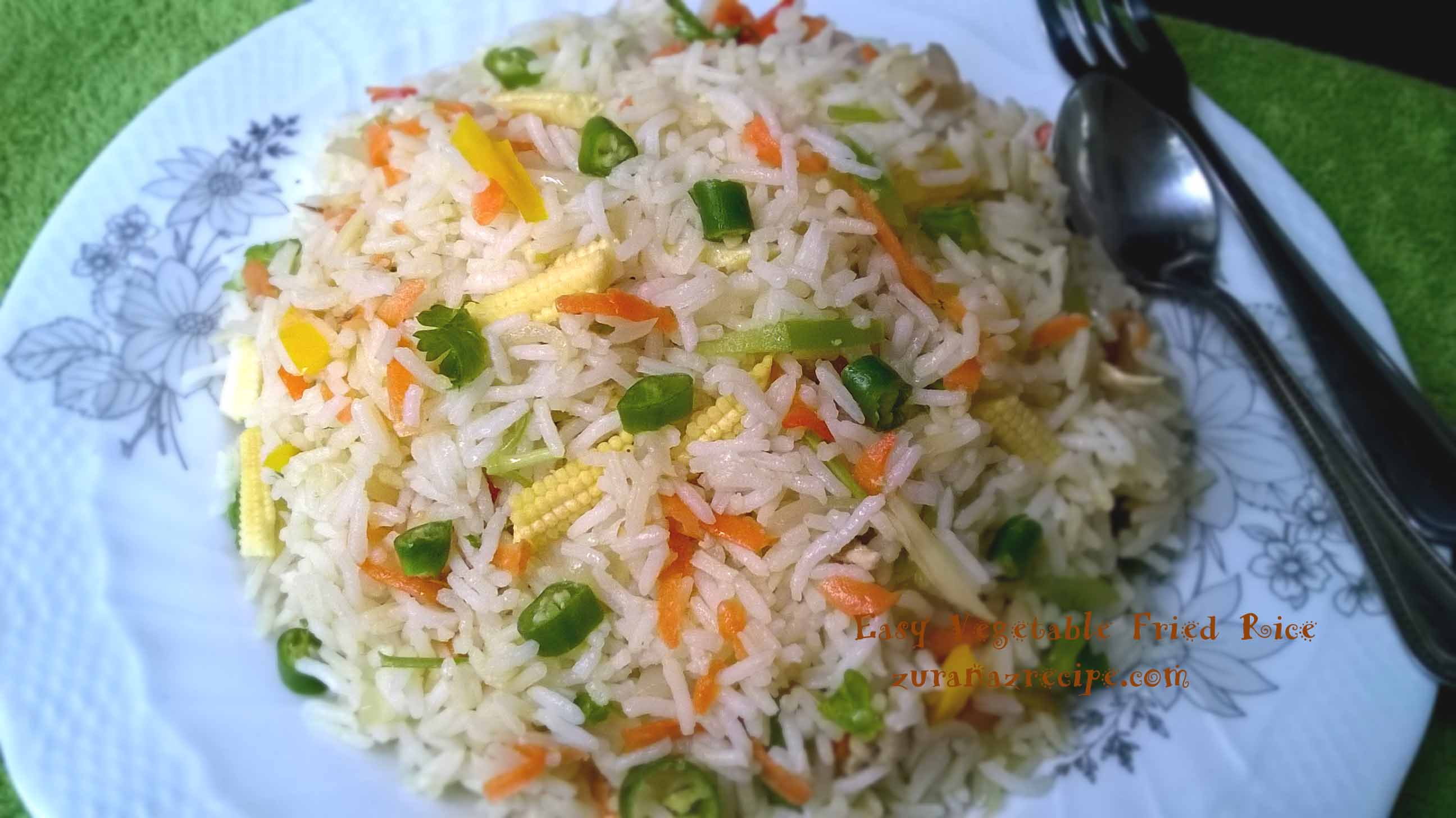 Easy vegetable fried rice bangla bangladeshi bengali food recipes easy vegetable fried rice forumfinder Gallery