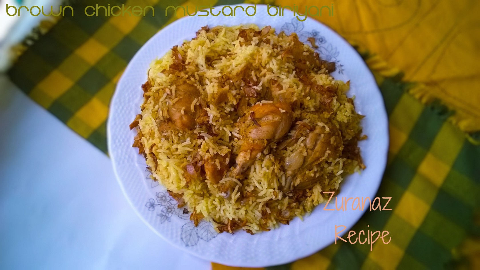 Spicy Brown Mustard Biryani