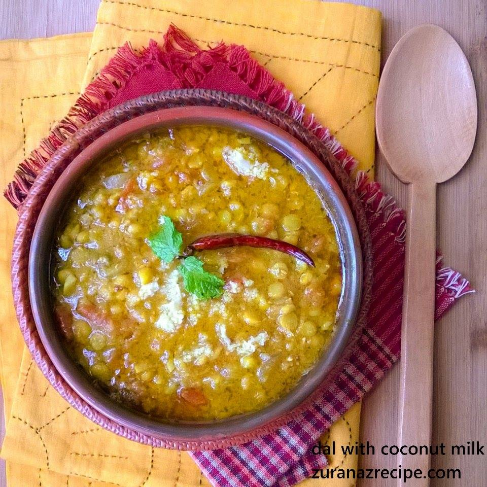 Cholar Dal With Coconut