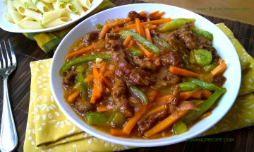 SWEET AND SOUR VEGETABLE BEEF