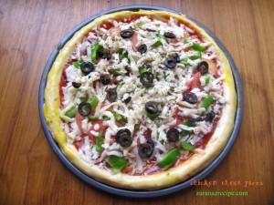 chicken chees pizza,