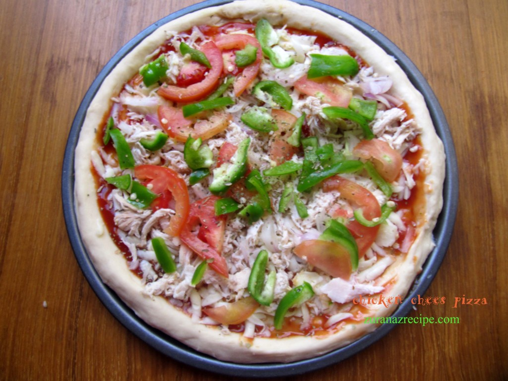 chicken cheese pizza