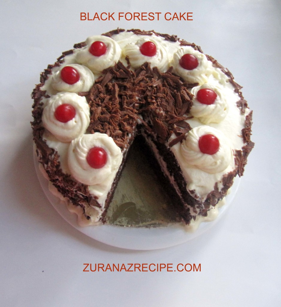 Cake Black Forest How To Make : Black Forest Cake Bangla, Bangladeshi & Bengali Food Recipes
