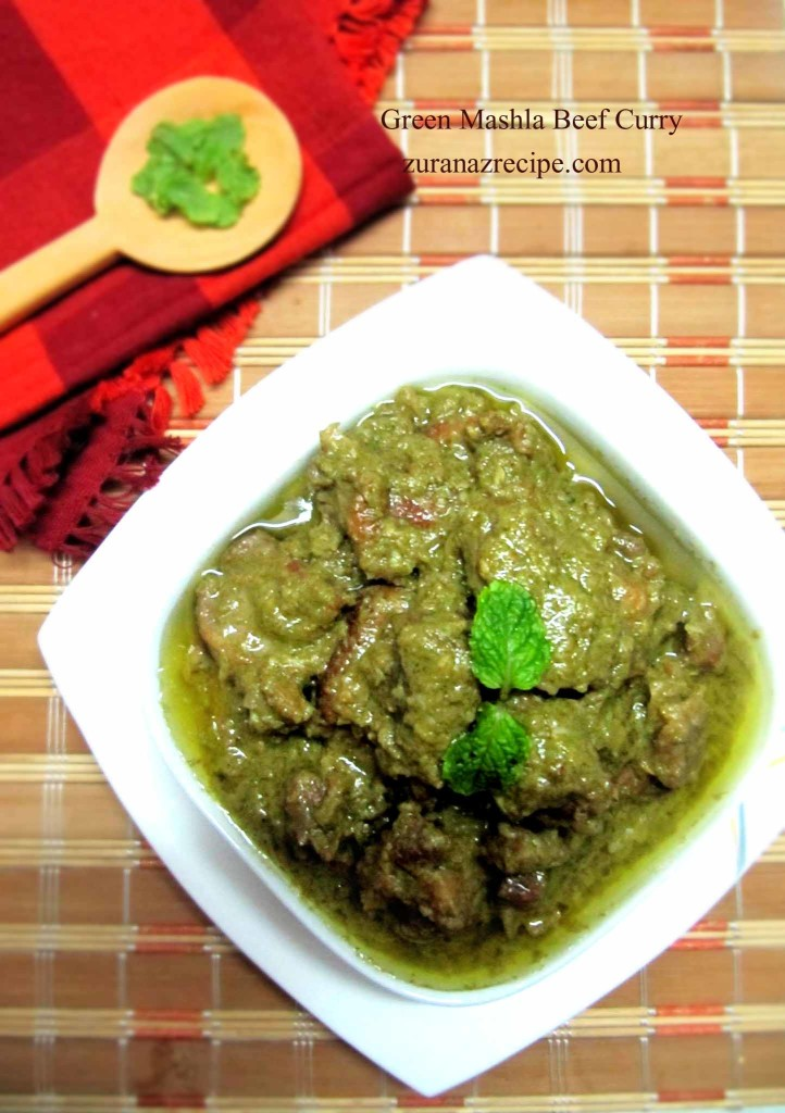 Green Mashla Beef Curry
