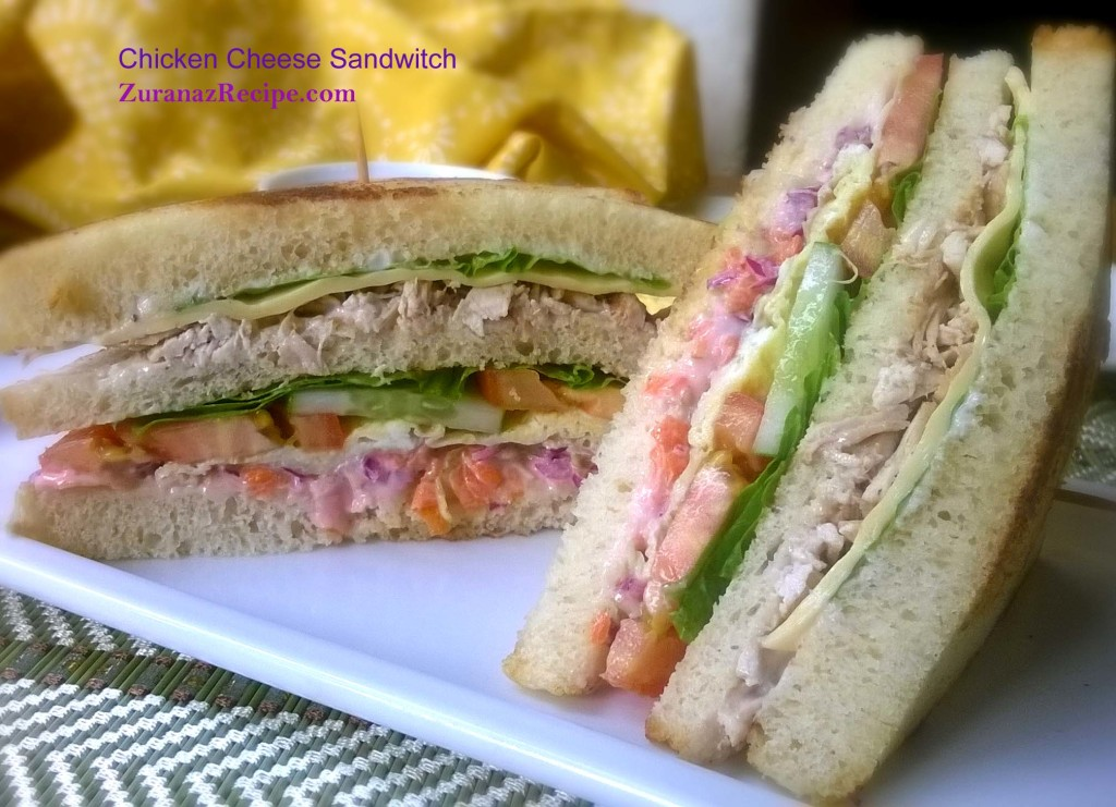 Chicken-Cheese Club Sandwich