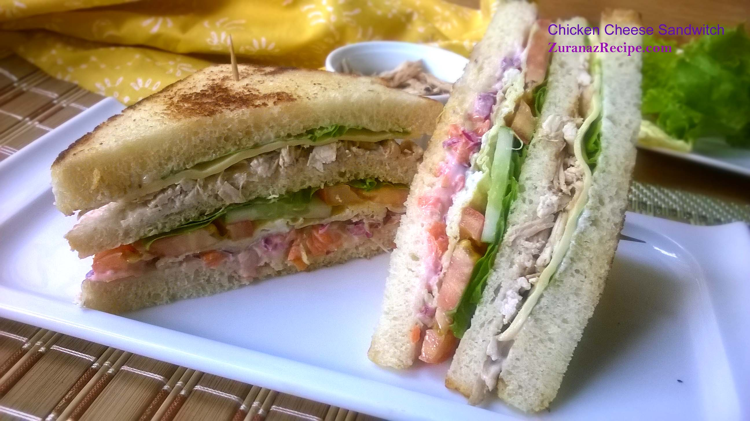 Chicken club sandwich bangla bangladeshi bengali food recipes chicken club sandwich forumfinder Image collections