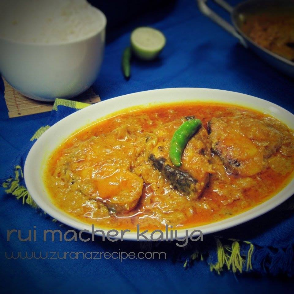 Rui Fish Kalia-Bangladeshi recipe