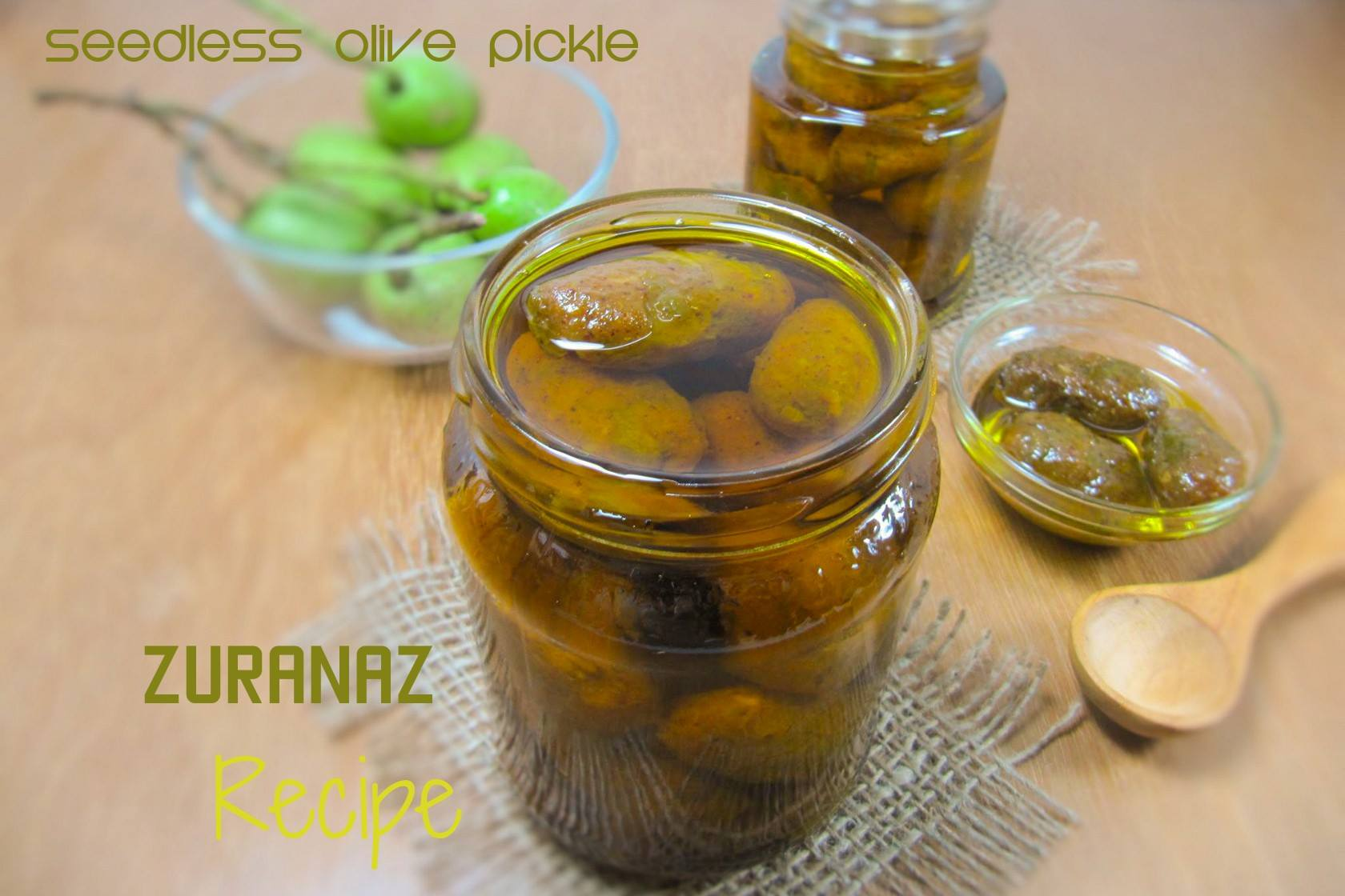 Seedless Green Olive Pickle/Seedless Jolpai Achar