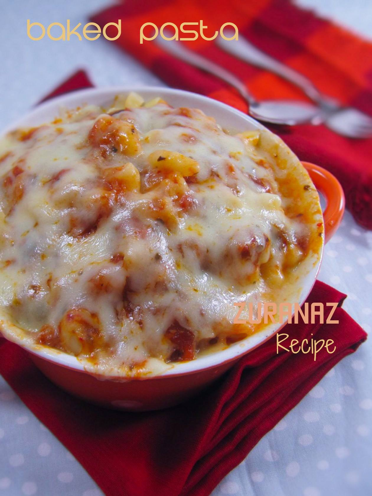 One Minute Microwave Baked Pasta Bowl