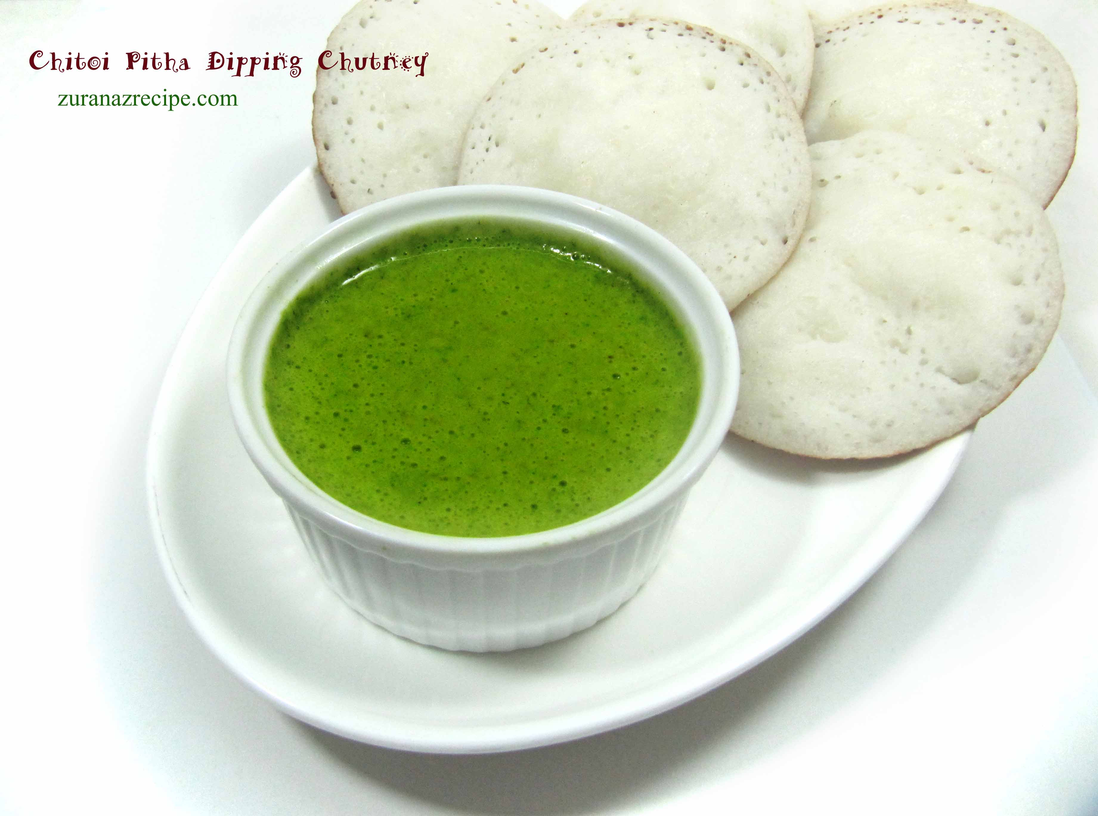 Chitoi Pitha Dipping Chutney/Coriander Chutney