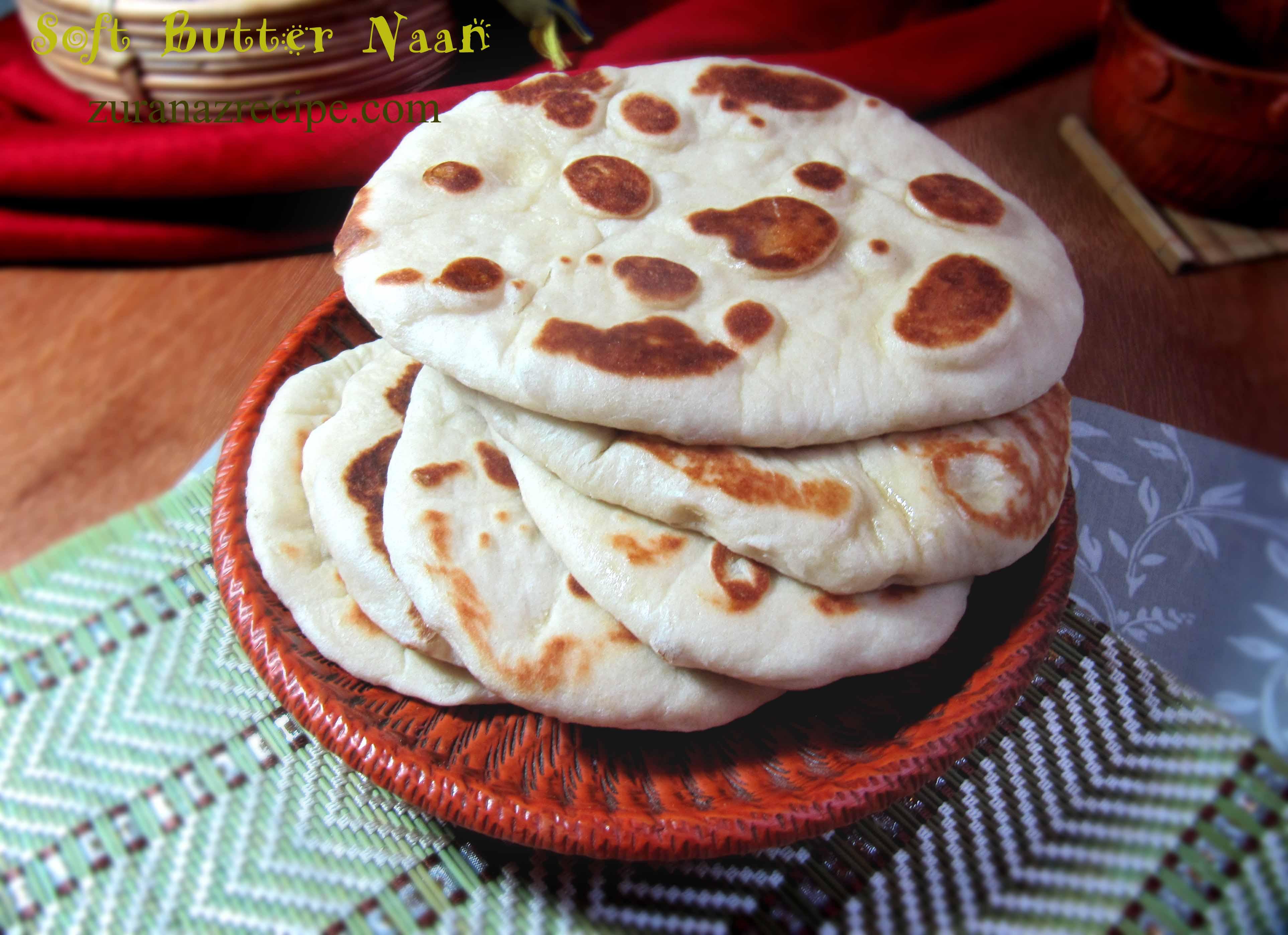 Soft Butter Naan/Homemade Naan Ruti