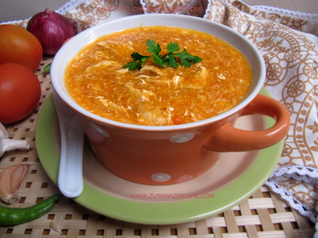 Shredded Chicken Tomato Soup