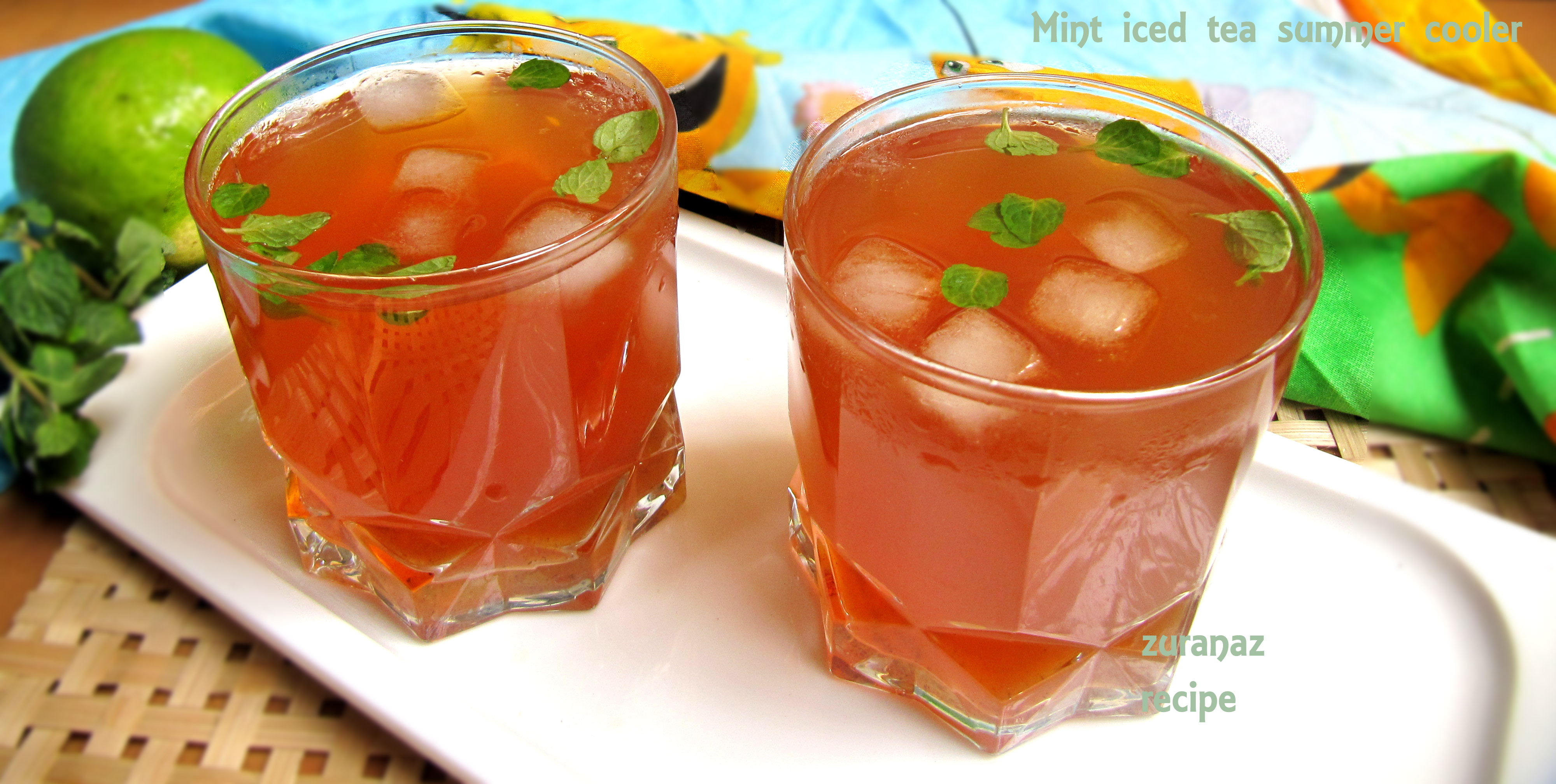 Mint Iced Tea Summer Cooler  ||pudina cha  ||mint tea