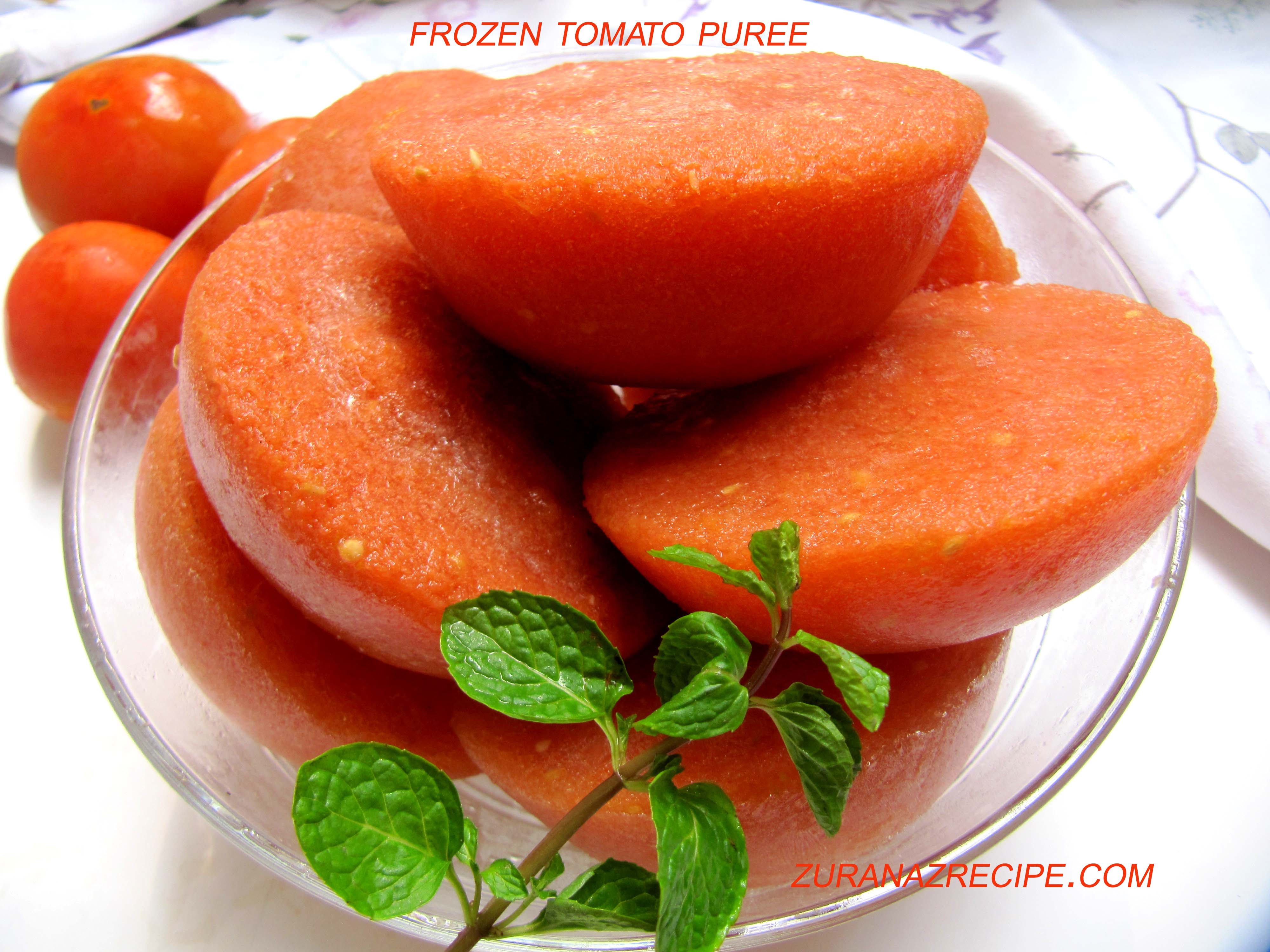 How to frozen tomato puree/How to preserve tomato puree