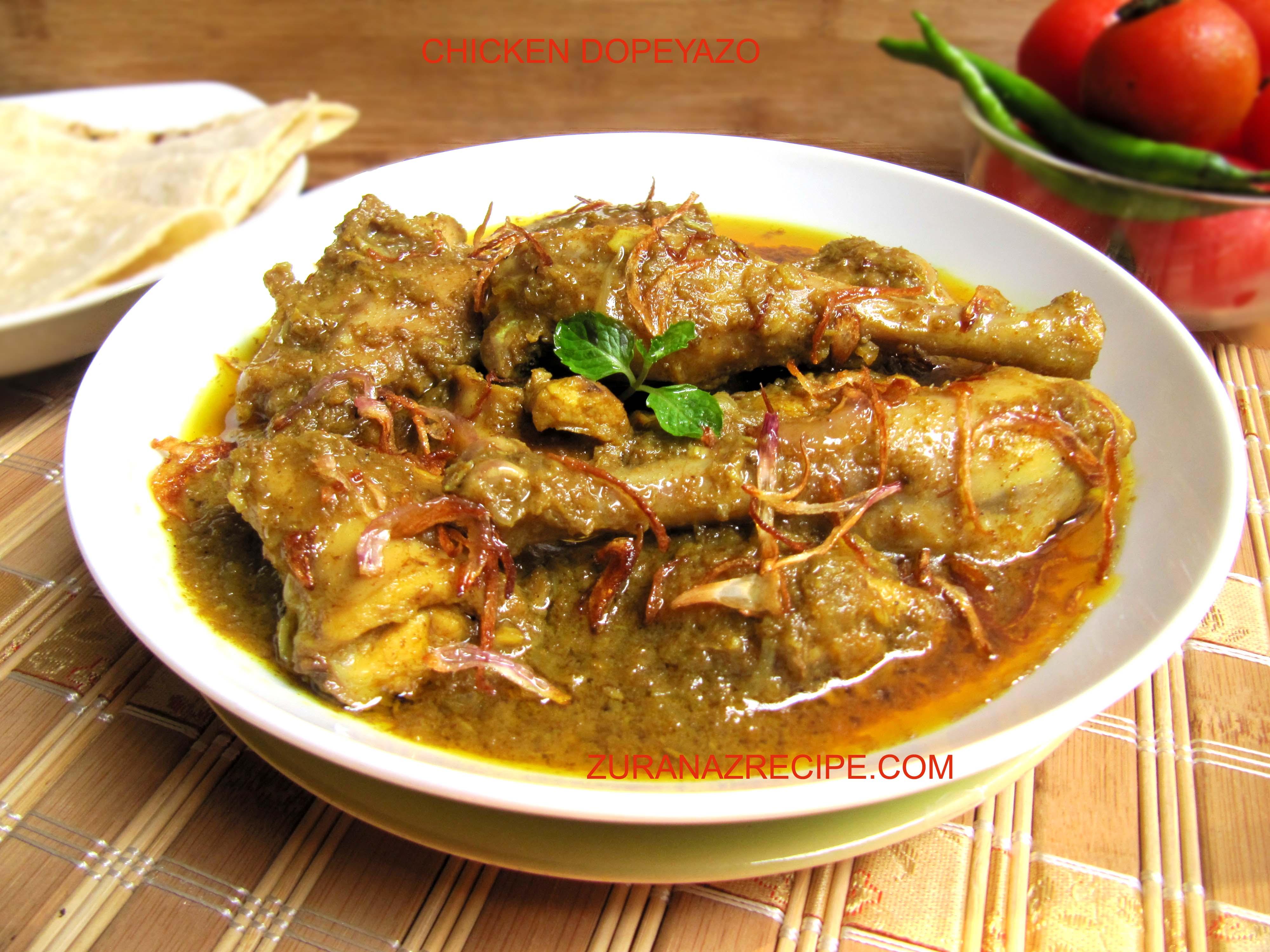 Chicken Dopeyaja/Murgir Dopeyaja