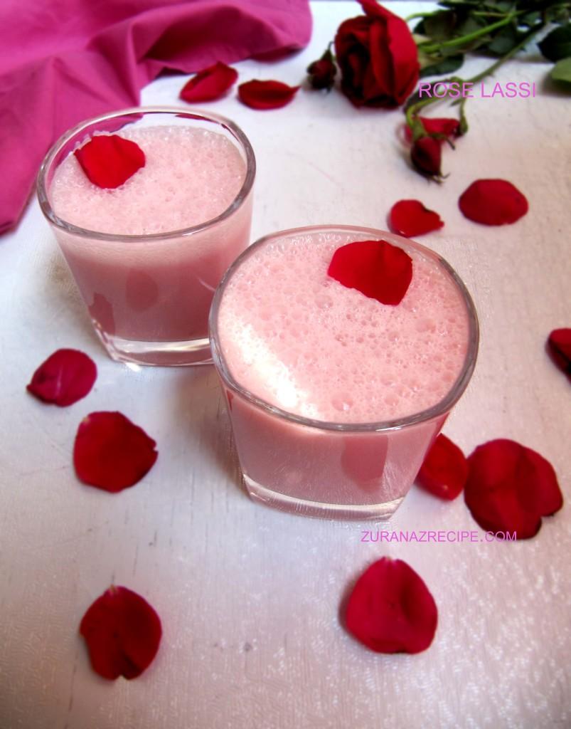 rose lassi..zuranazrecipe.com...,