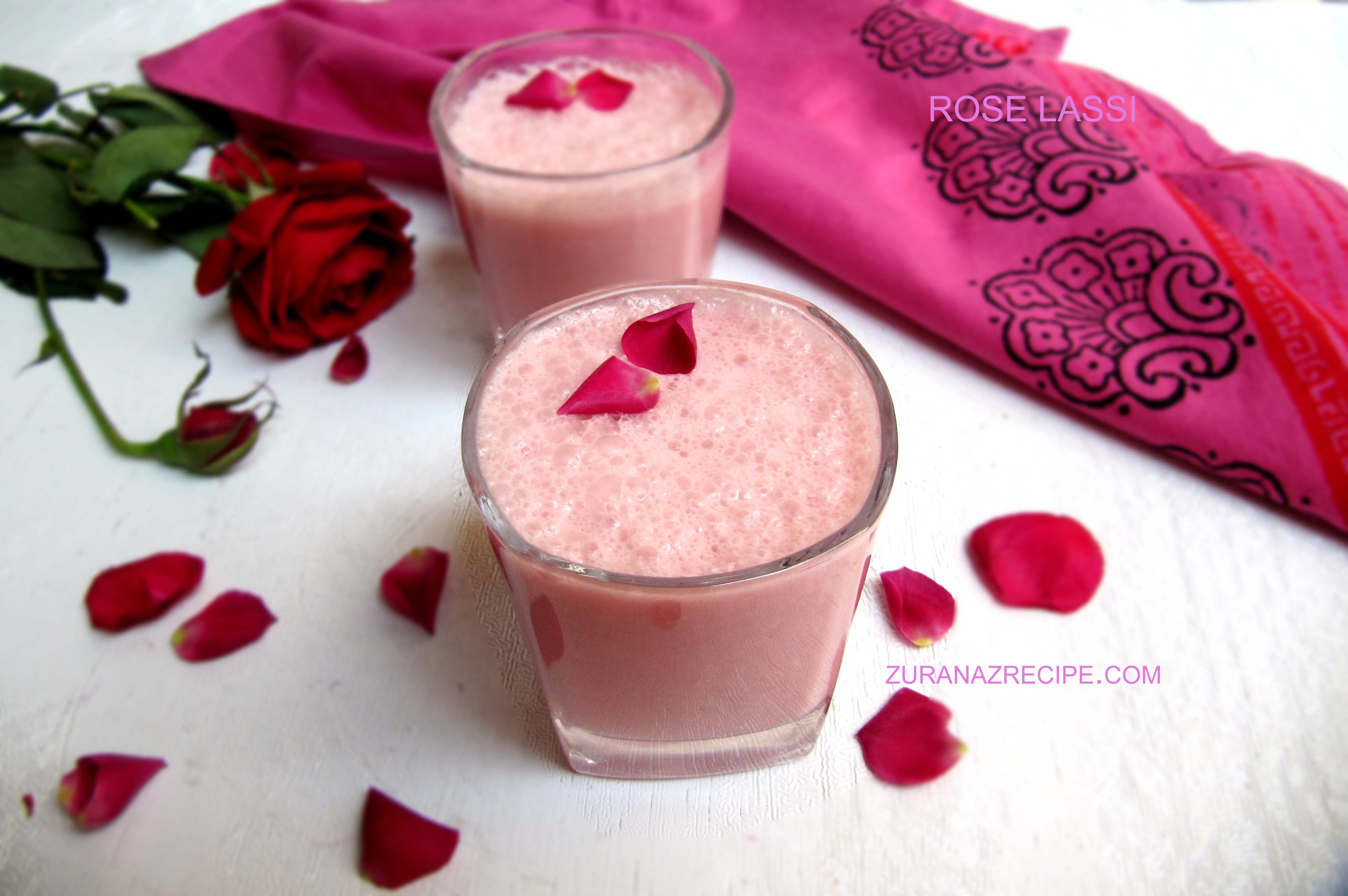 rose Lassi – sweet lassi recipe – Bangladeshi lassi recipe
