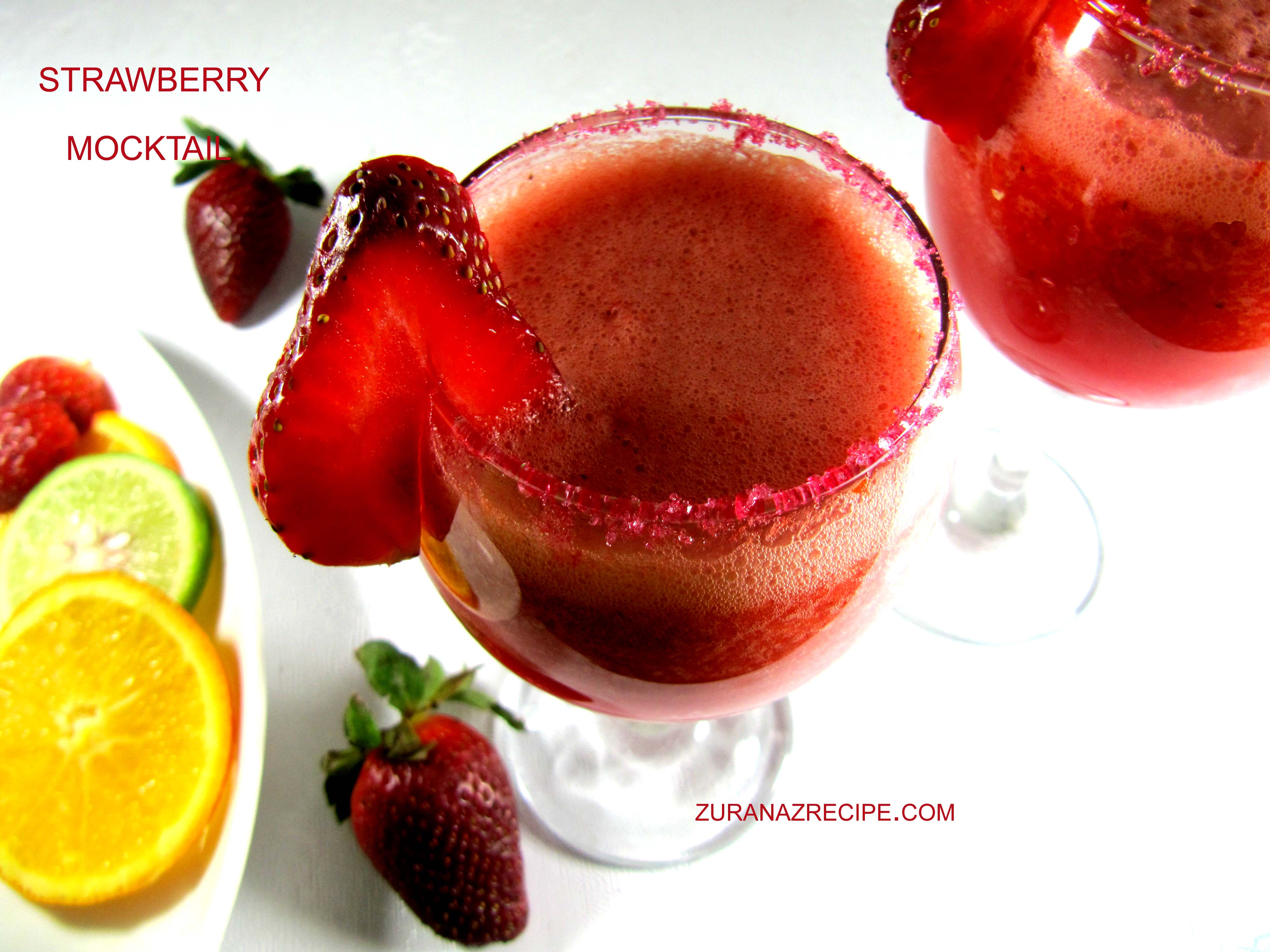 Cool Strawberry Mocktail