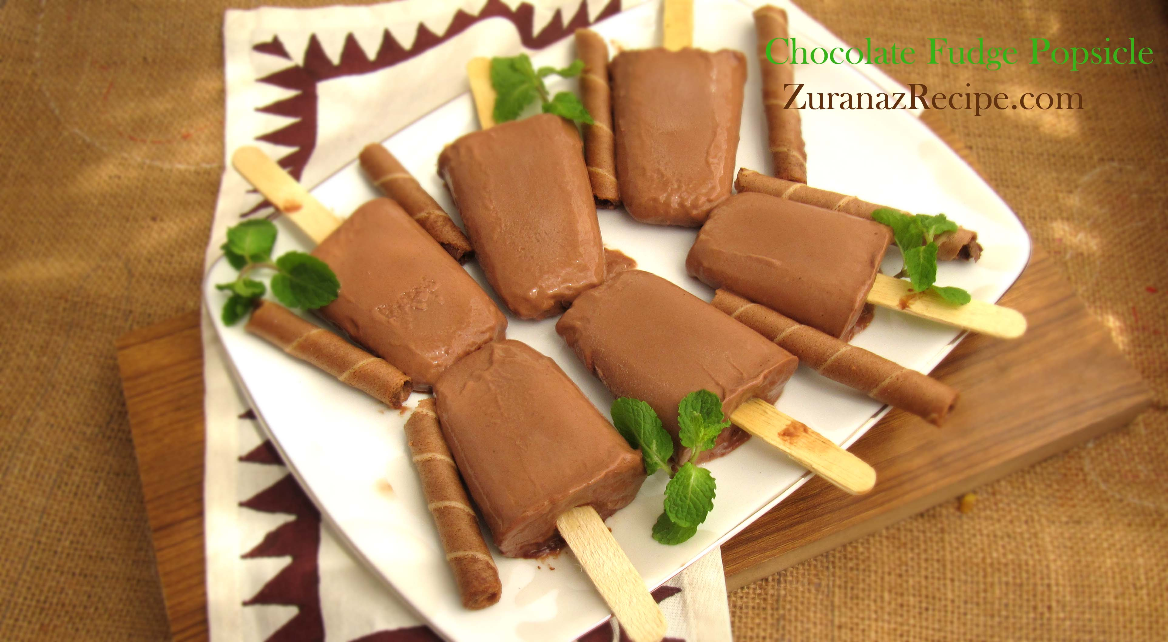 Creamy Chocolate Fudge Popsicles