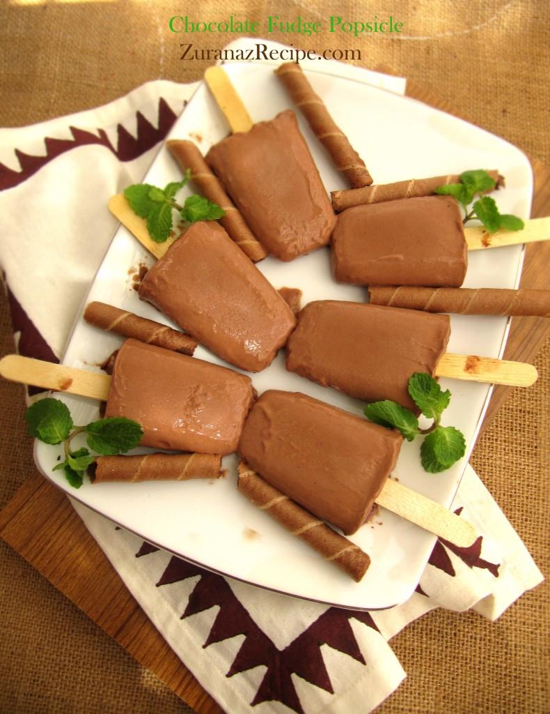ppCreamy Chocolate Fudge Popsicles