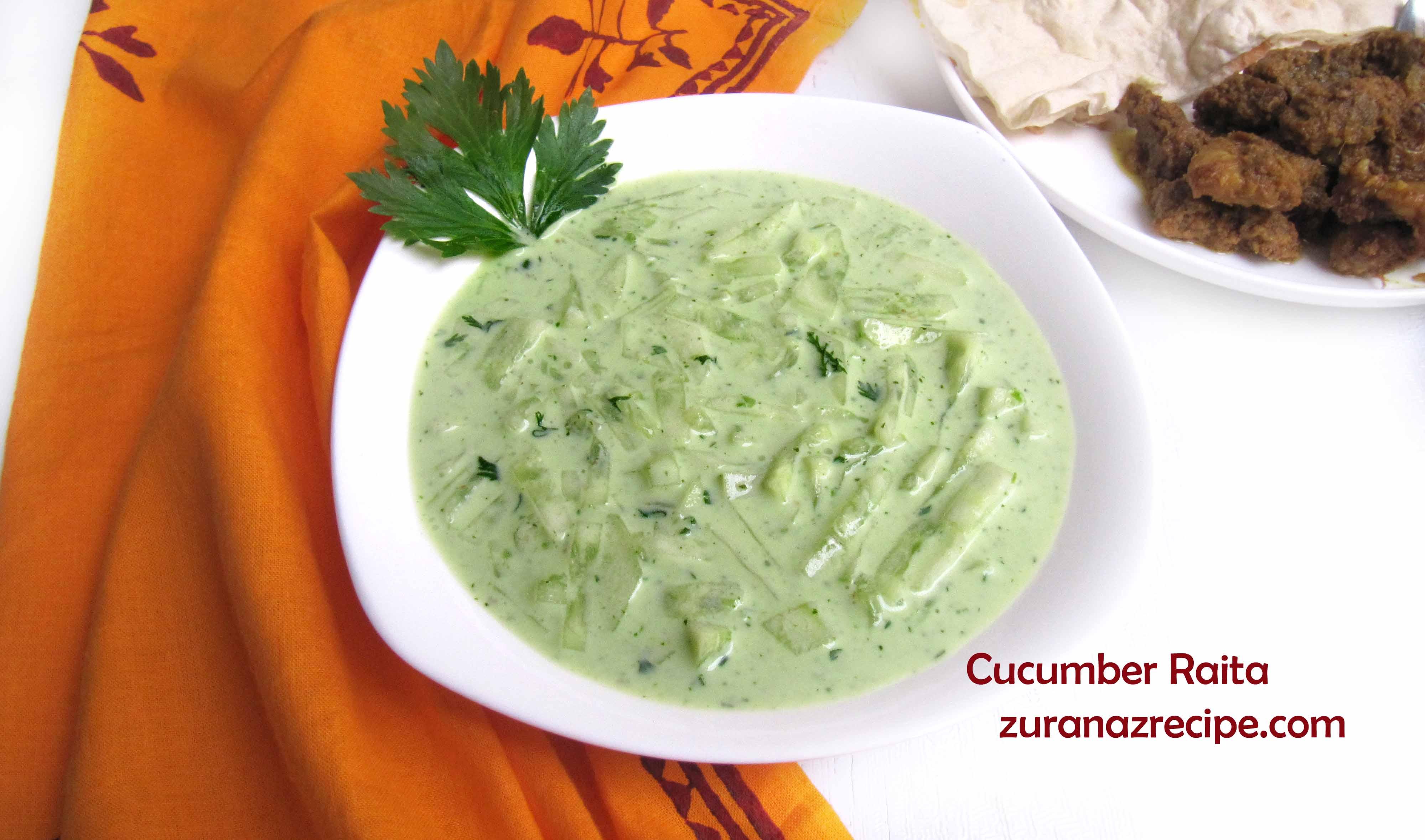 Cucumber Raita/Shasher Raita In Bangladeshi Style