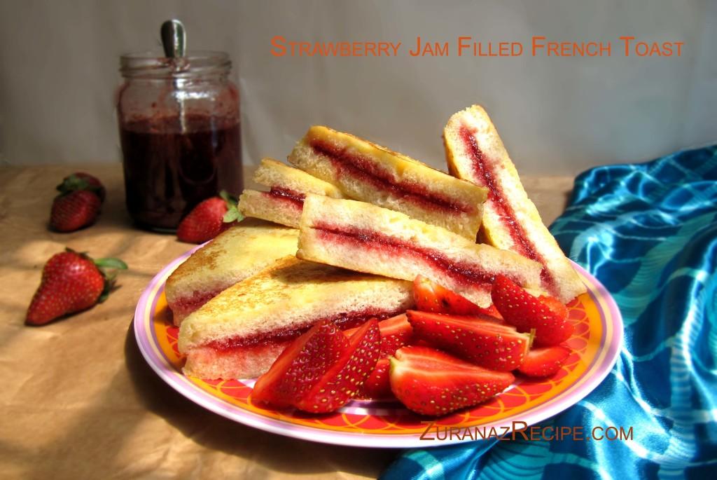 Jam Filled Bread Toast