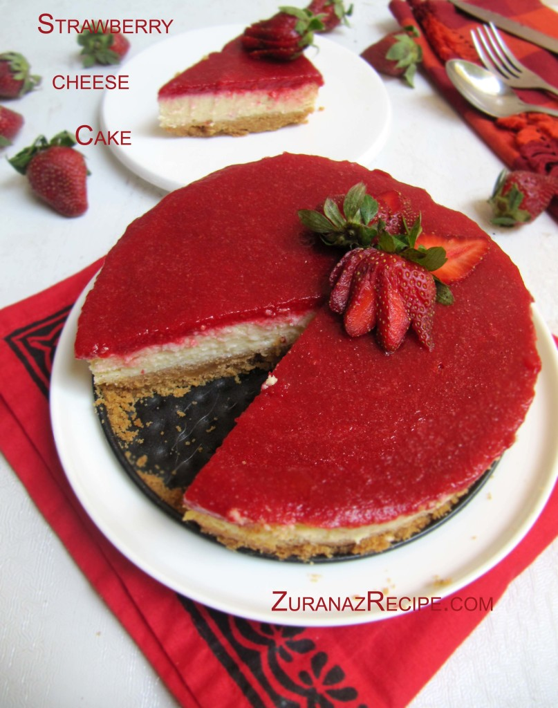 Strawberry glazed cheese cake