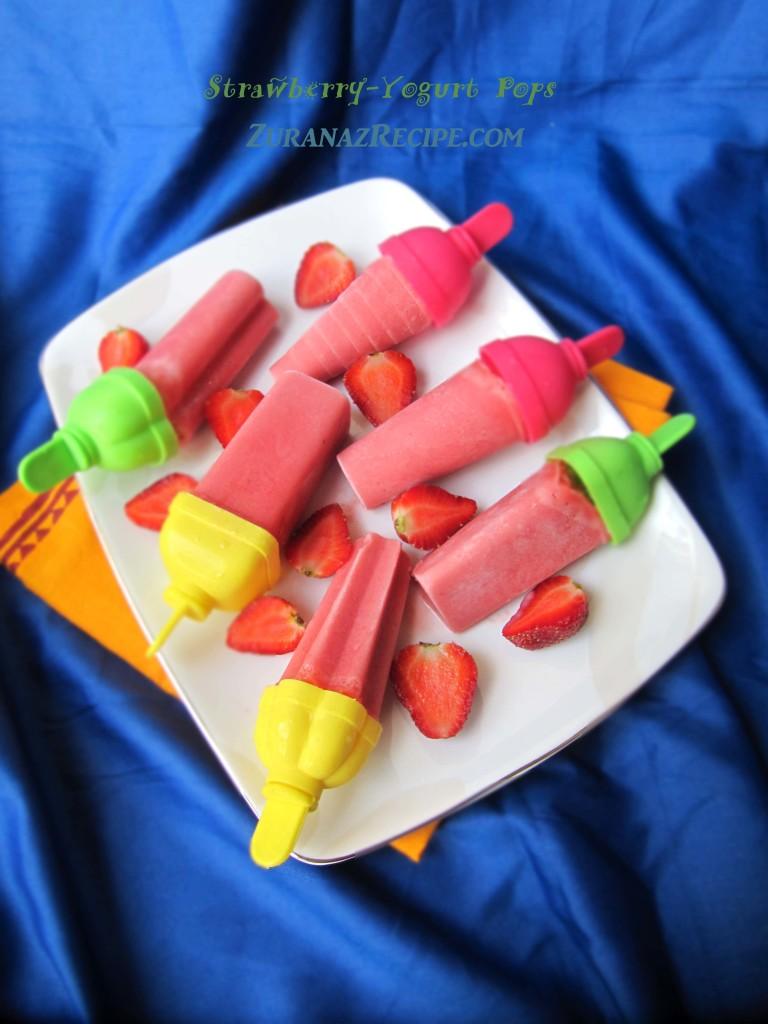Strawberry-Yogurt Pops