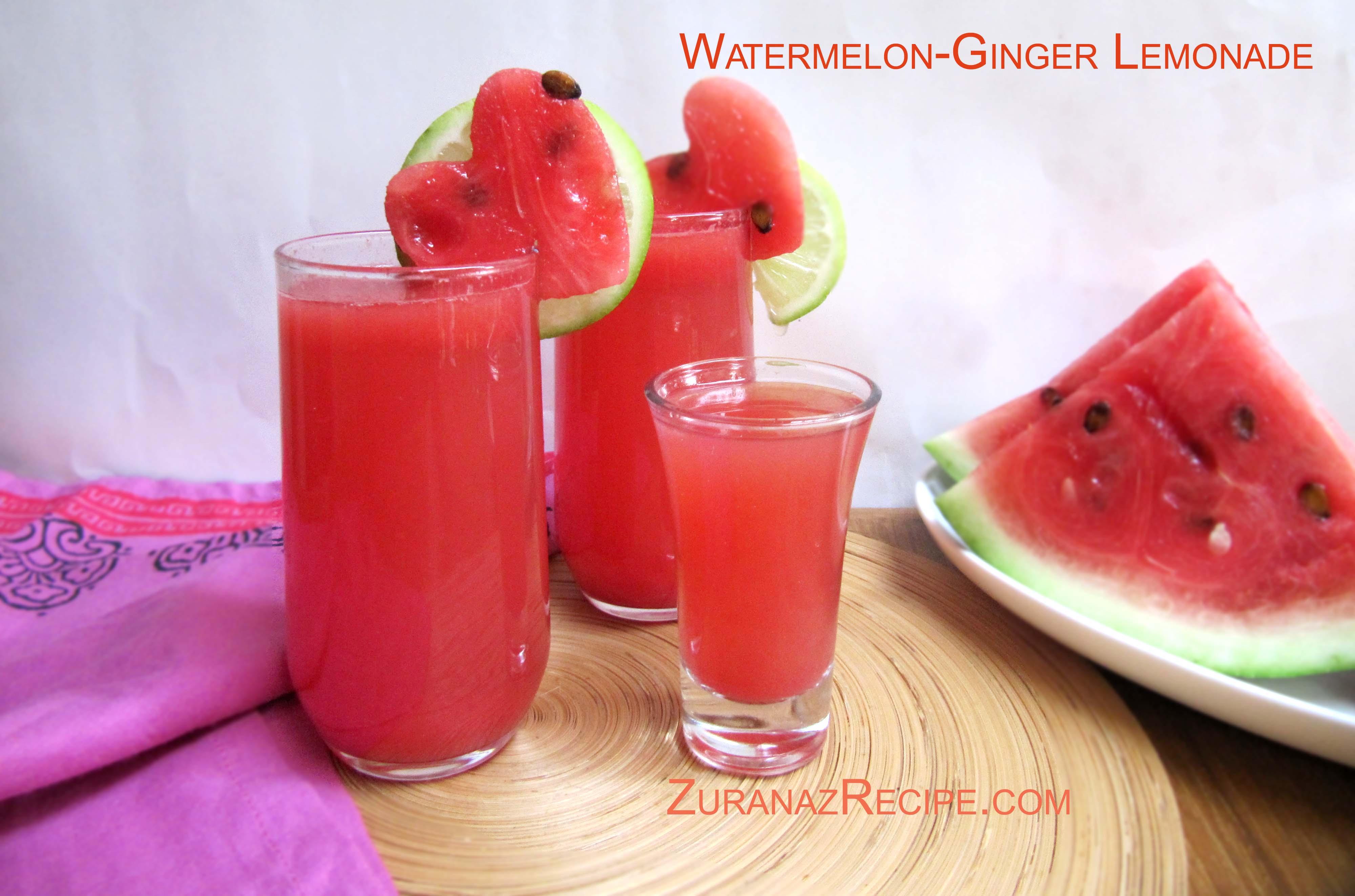 Watermelon-Ginger Lemonade/Watermelon-Ginger Sharbat