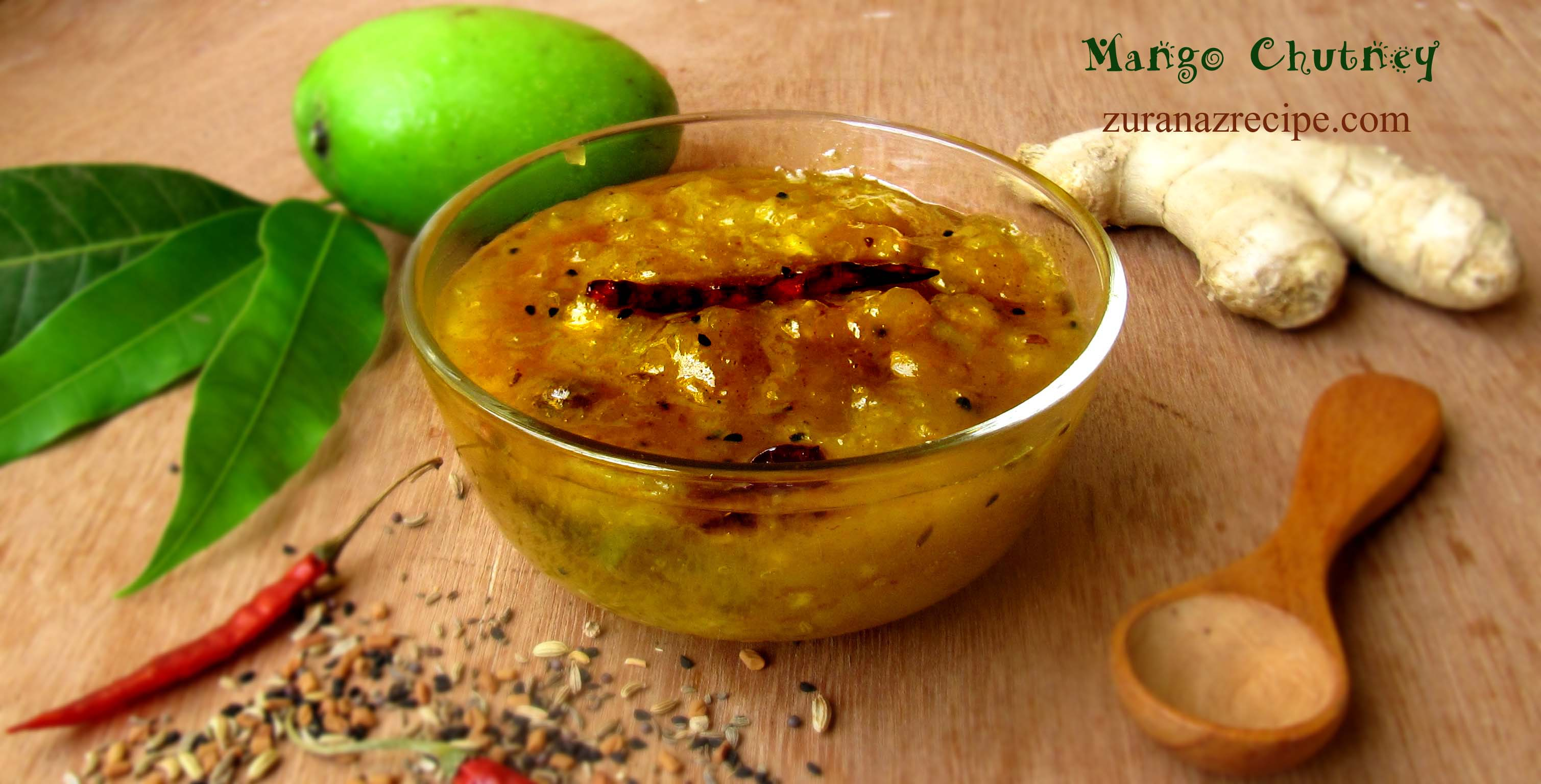 Kacha Aamer Chutney/Green Mango Chutney
