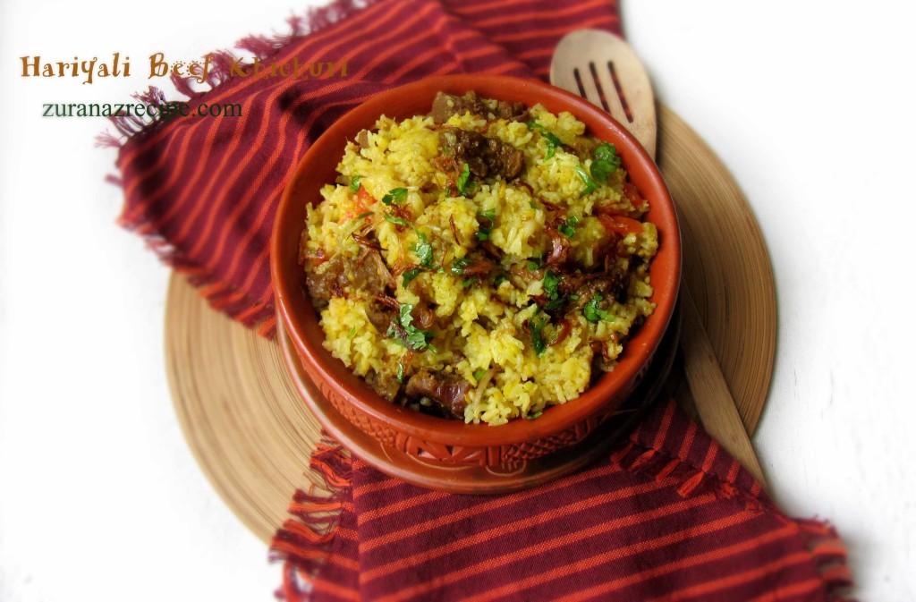 Hariyali Beef Khichuri