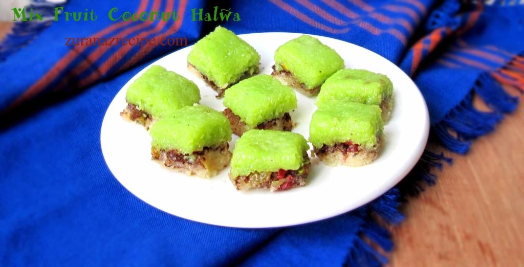 Mix Fruit Coconut Halwa