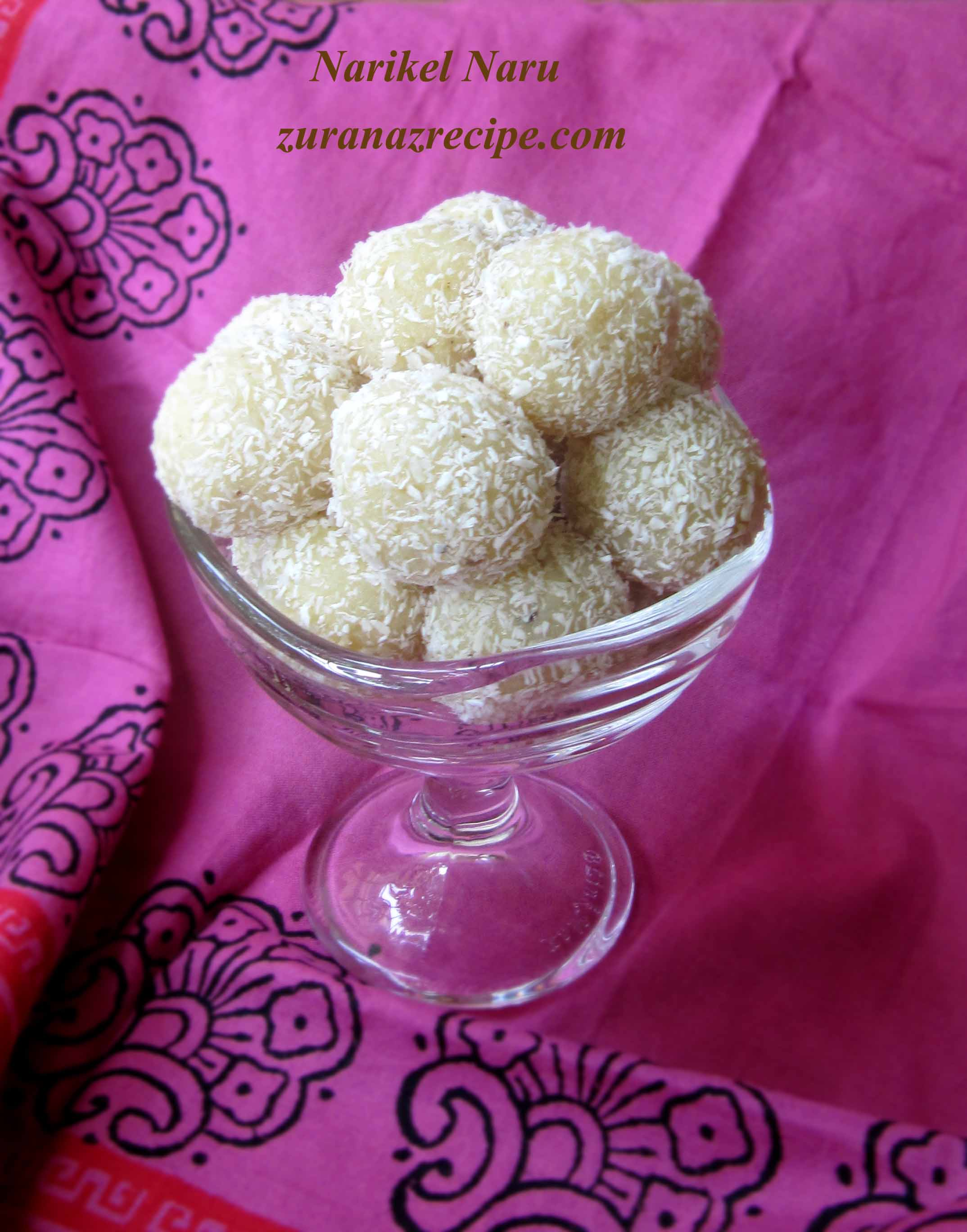 Narikel Naru-Coconut Laddu