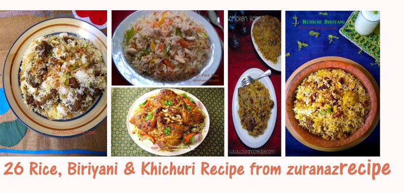 26 Rice, Biriyani & Khichuri Recipe from zuranazrecipe