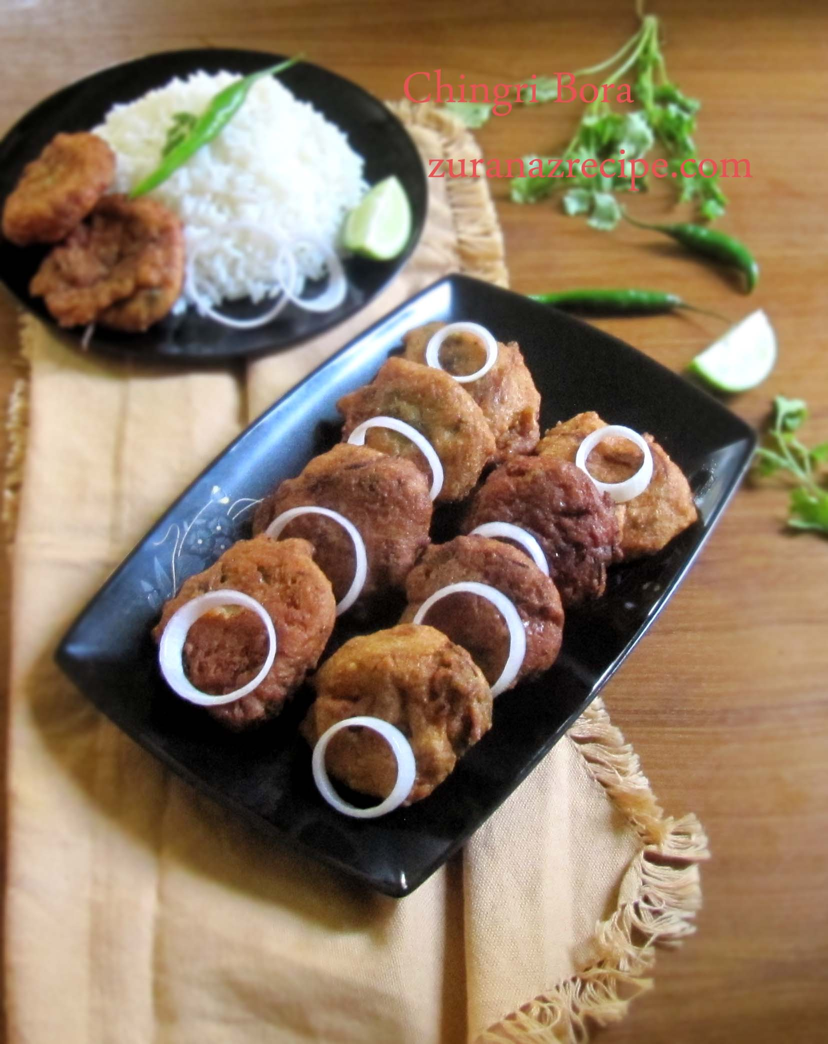 Chingri Bora-Prawn Fritters