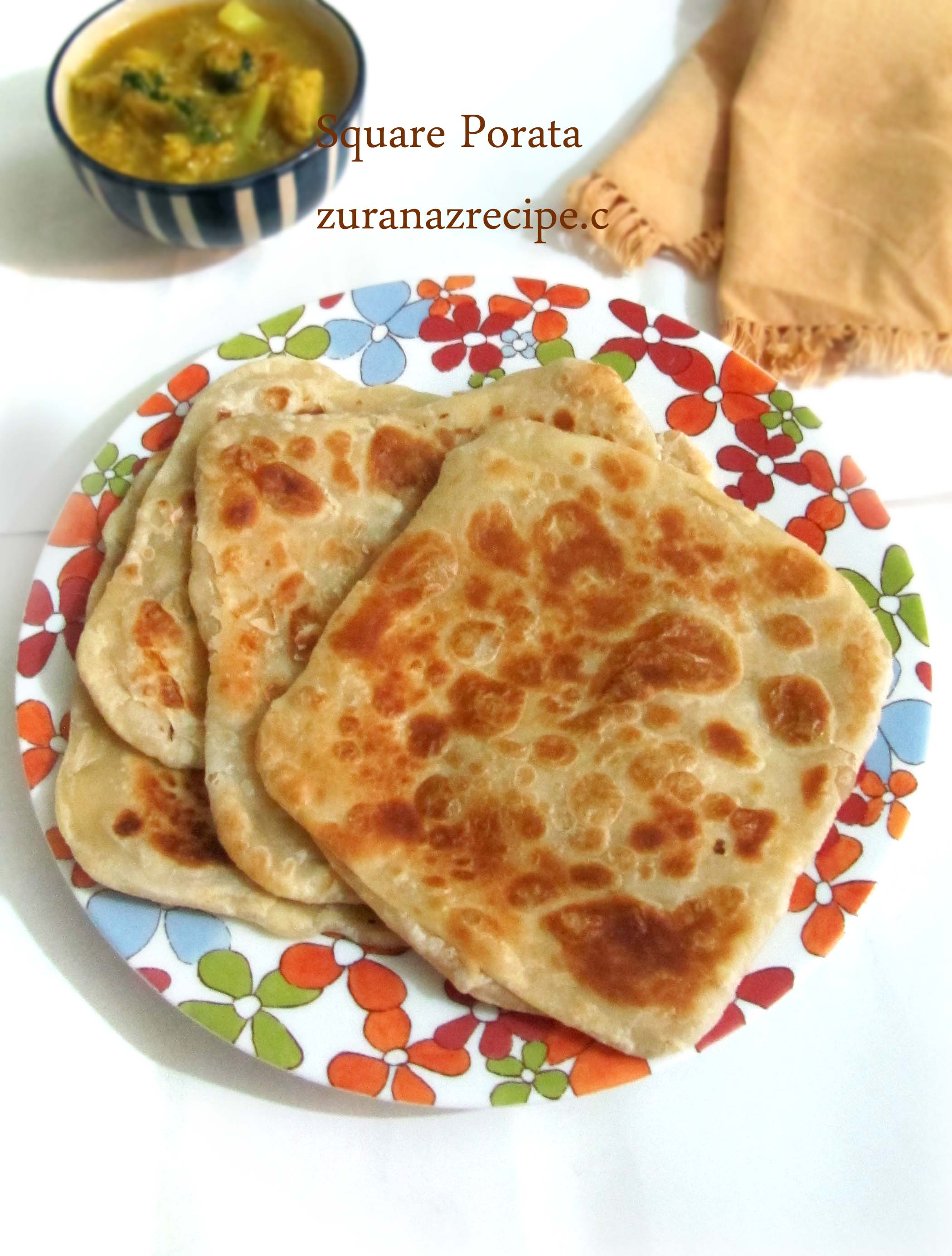 Square Parata – Chouka Parata-How to make paratha at home