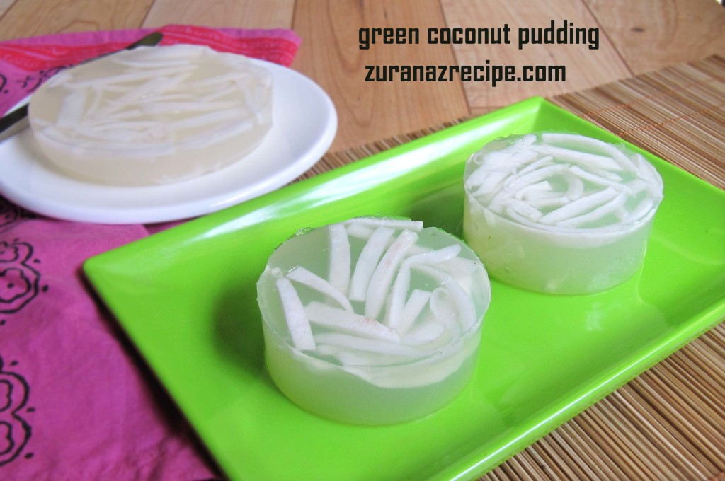 green coconut pudding|| daber pudding//coconut jello